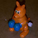 POP-OVERS Boxing Kangaroo Wind-Up retro toy 1980 TOMY @SOLD@